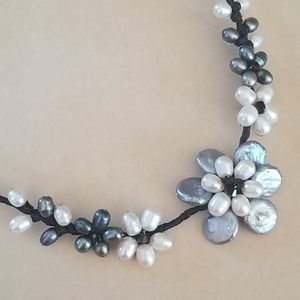 Handmade Wire Wrapped Freshwater Pearl Necklace